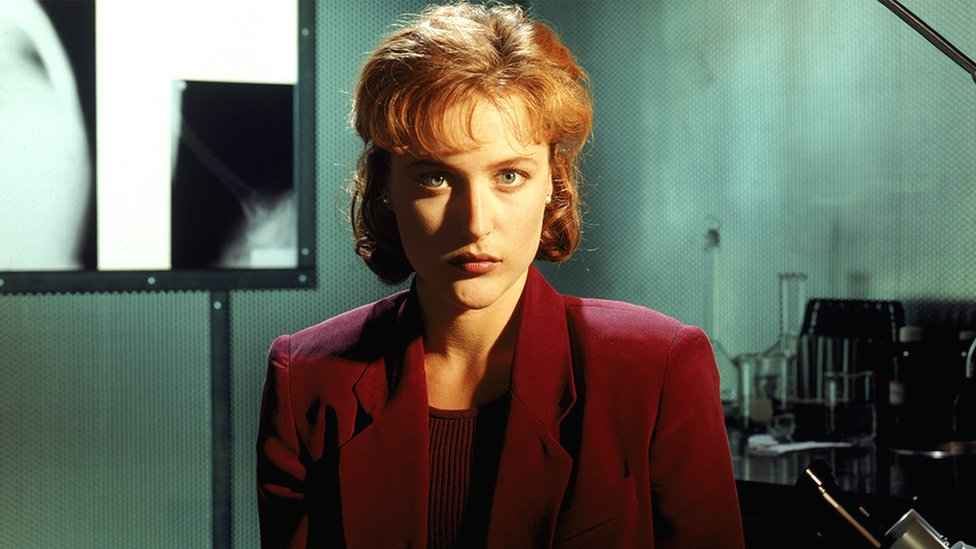 Gillian Anderson as Agent Dana Scully in The X Files