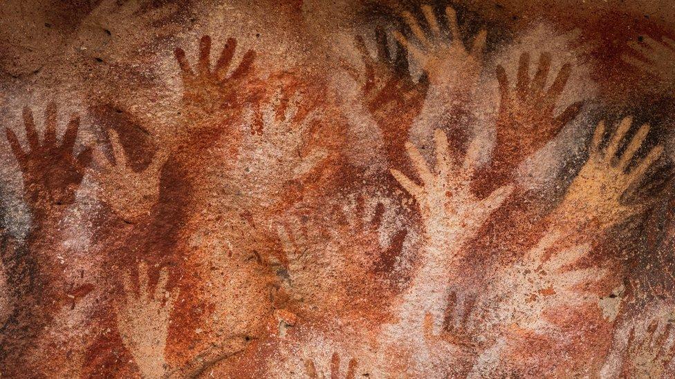 Cueva de las manos en Argentina.