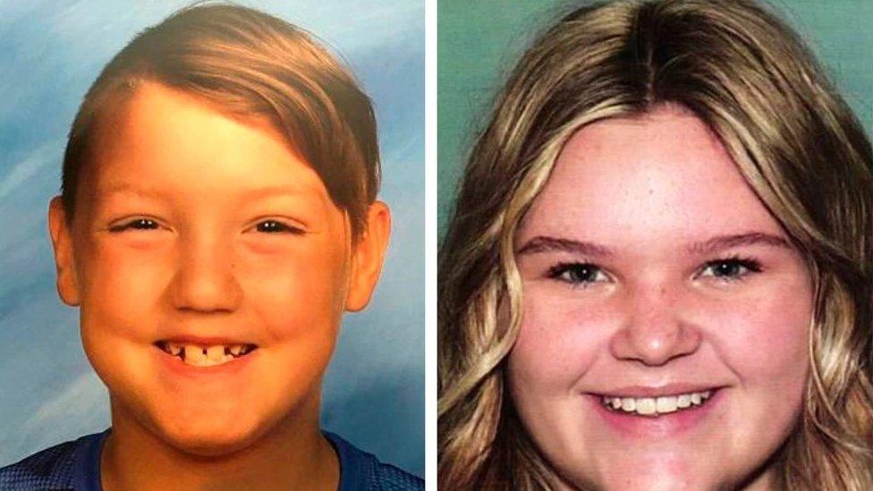 "Joshua ""J.J."" Vallow, 7, izquierda, y Tylee Ryan, 17"