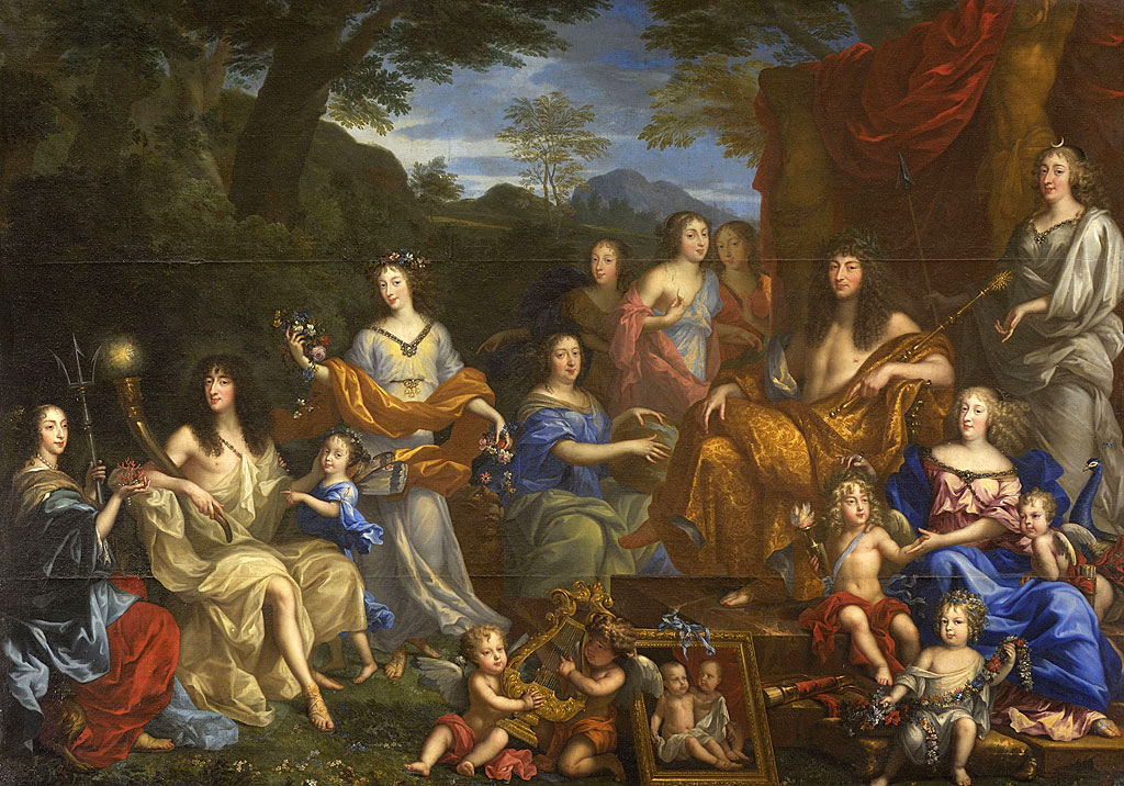 Louis XIV y la familia real