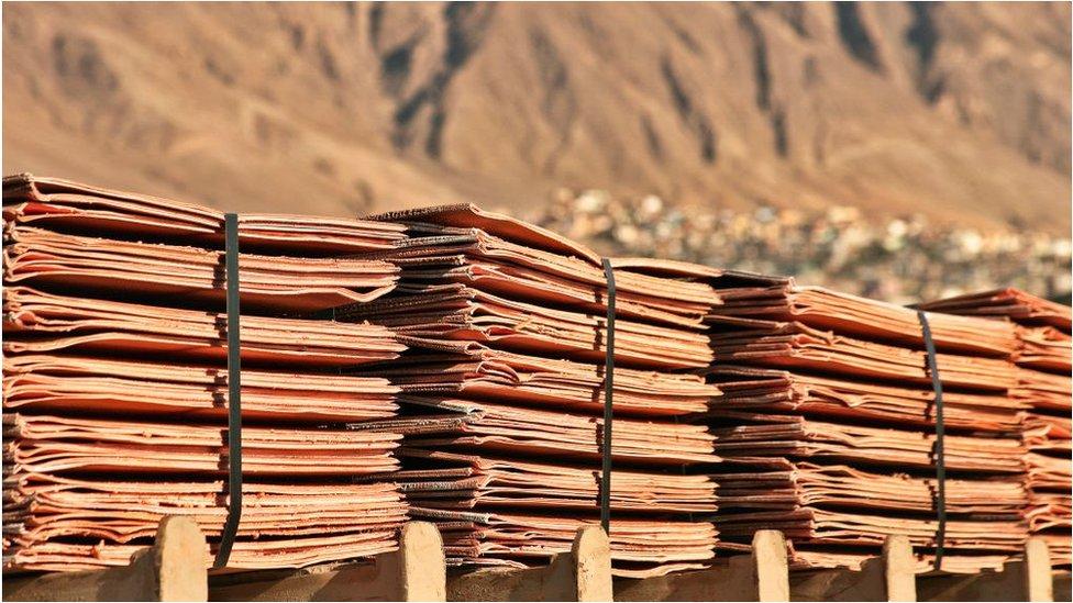 Planchas de cobre