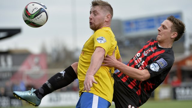 Match action from Crusaders against Bellymena United