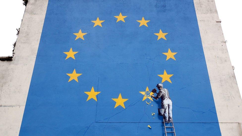 Mural del Brexit de Bansky