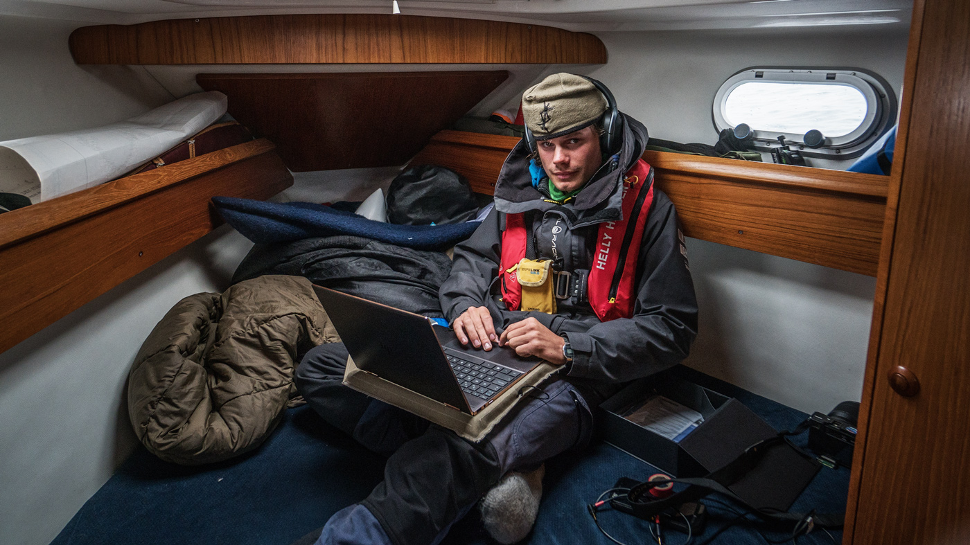 Sigurd Toven Gautun on a Nature and Youth expedition to Bear Island, Norway in 2018