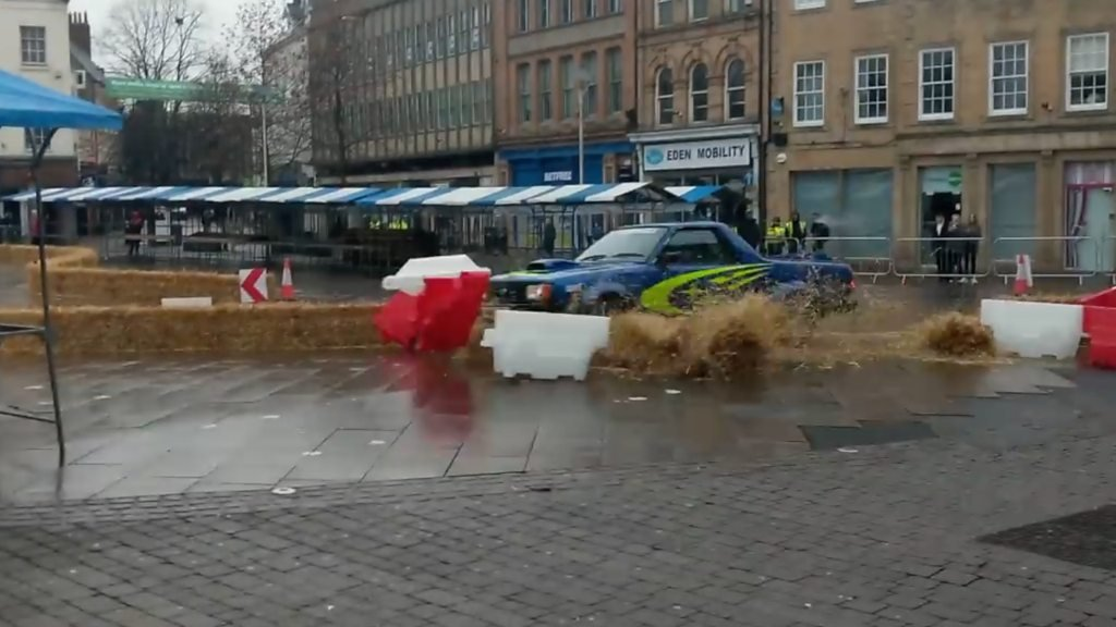 Top Gear presenter crashes during Mansfield filming