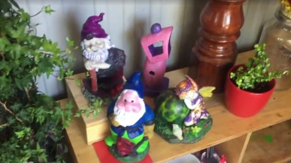 Garden gnomes and ornaments