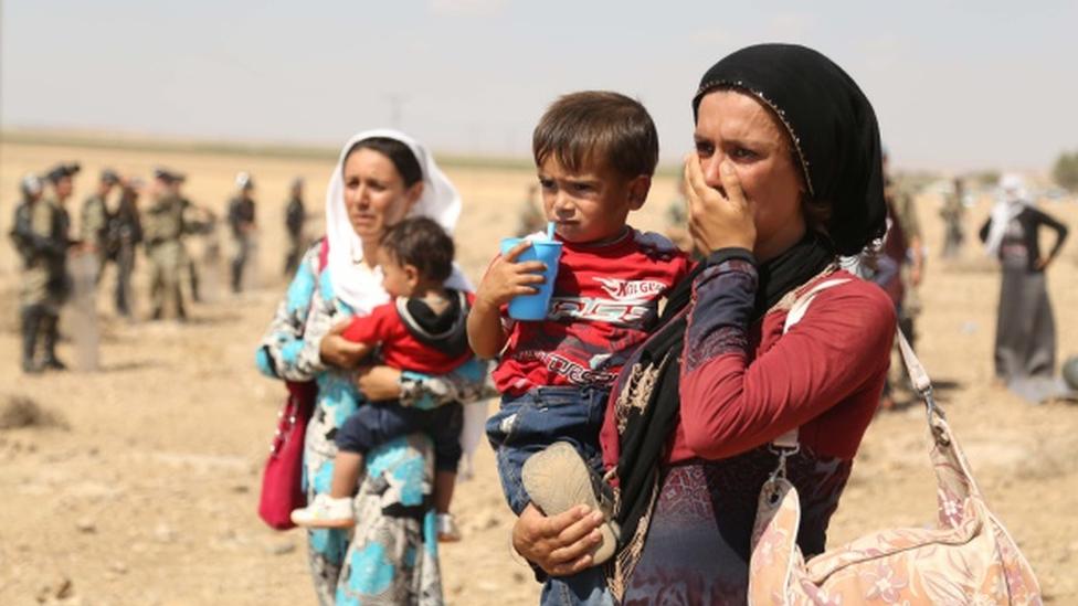 Kobani'den kaçanlar