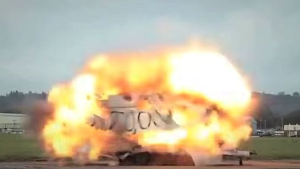 Top Gear blows up a caravan