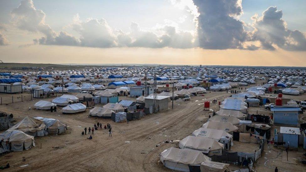 مخيم الهول في محافظة الحسكة شمال شرقي سوريا