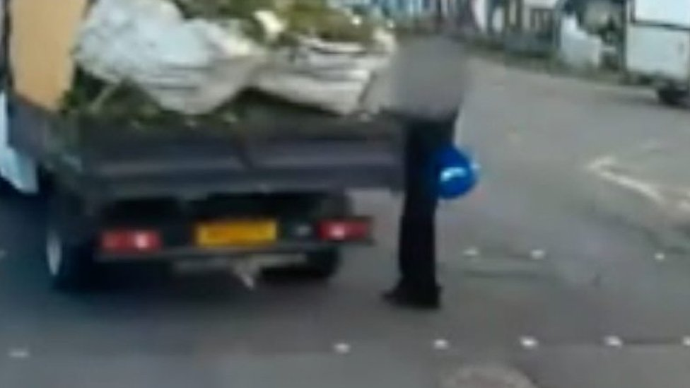 Dashcam footage shows driver narrowly miss 14-year-old boy