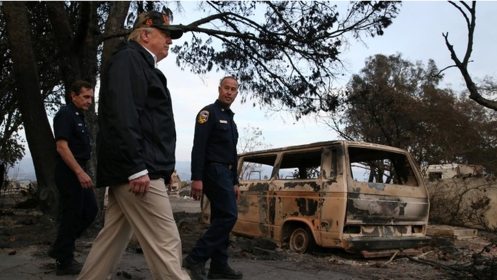 California wildfires: Finland bemused by Trump raking comment