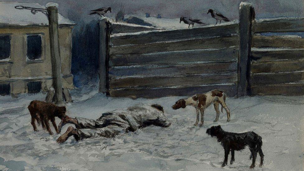 Hombre muerto en la nieve NO USAR / BBC