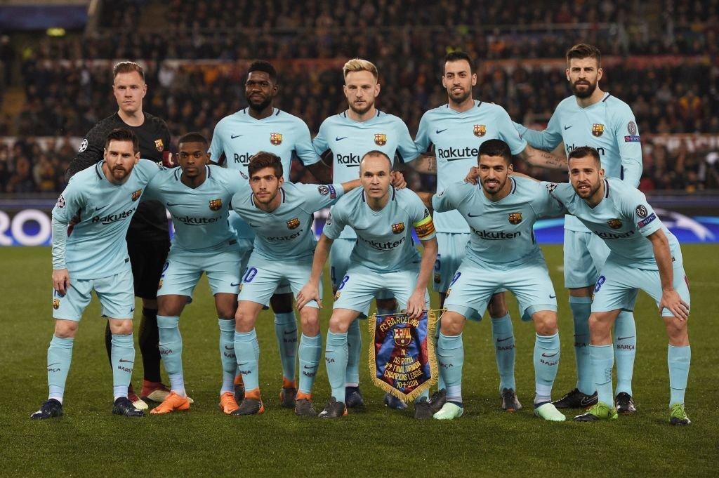 Once titular del Barcelona en Roma.
