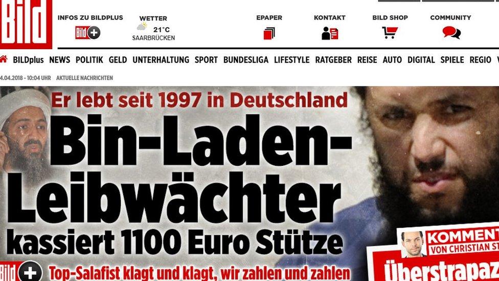 لقطة من صحيفة بيلد الألمانية