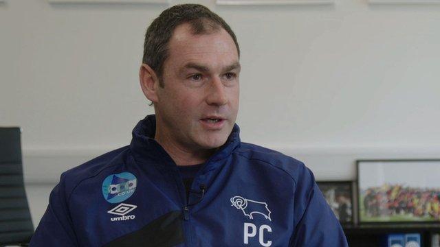 Derby County boss Paul Clement