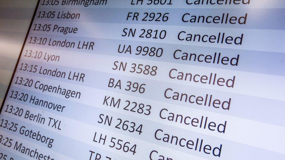 Belçika'da iptal edilen uçuşlar