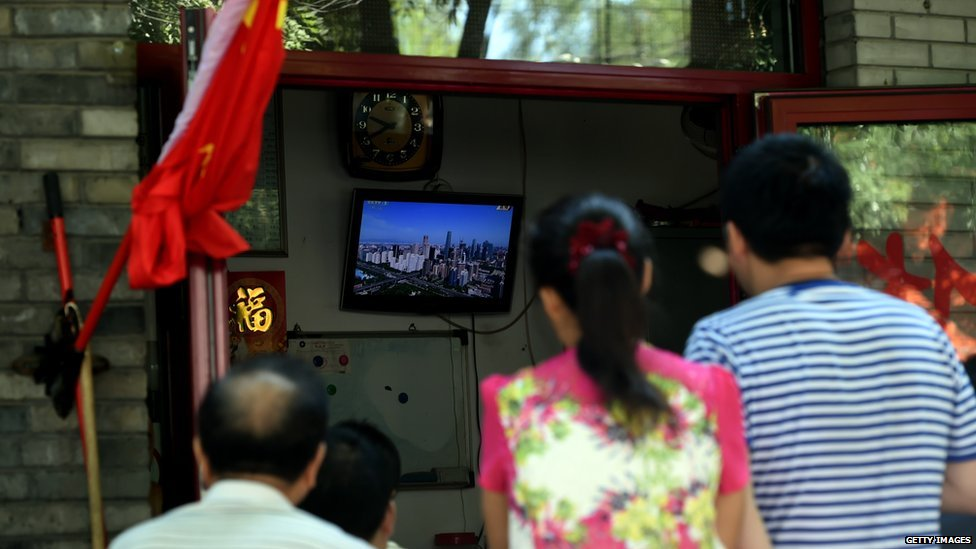 People watch Chinese TV