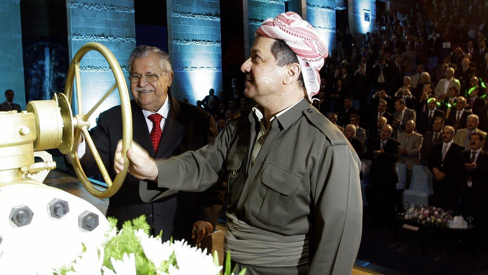 Iraqi president and Iraqi Kurdistan leader