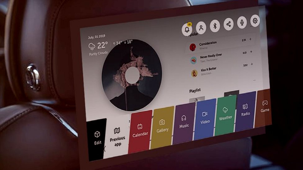 Concept user interface for WebOS Auto
