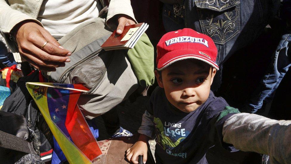 Migrante venezolano en Ecuador esperando ser repatriado