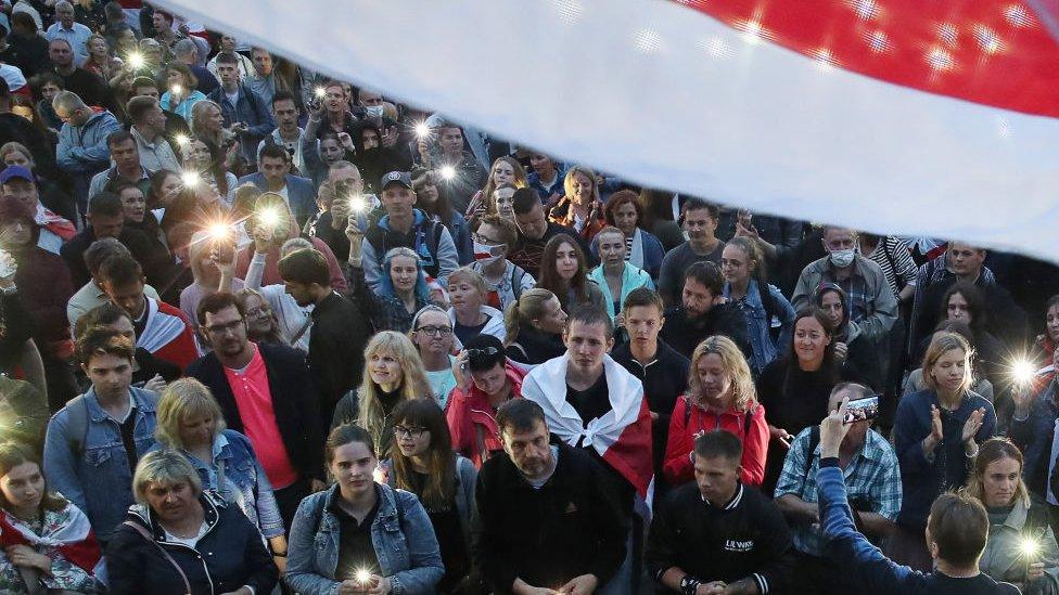 Protesta en Minsk