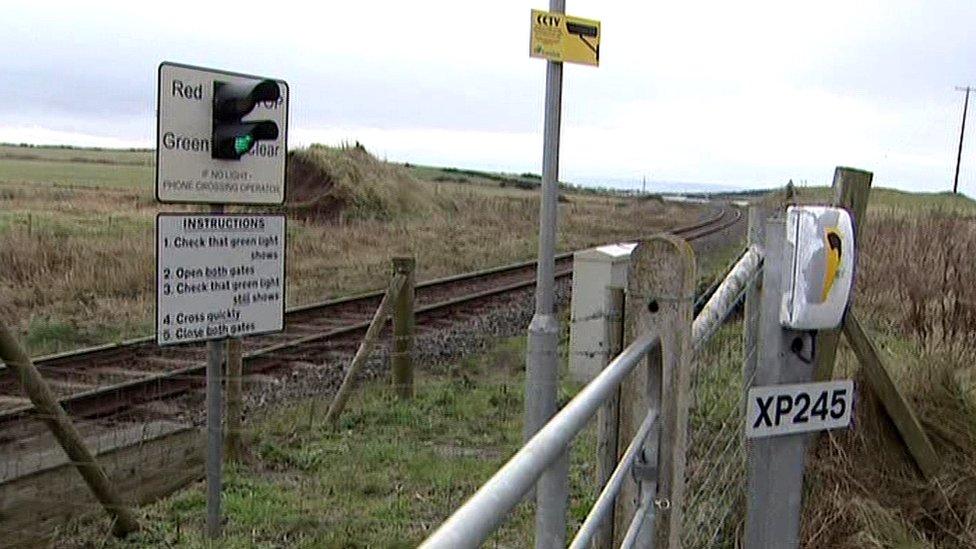 Portrush to Coleraine railway line