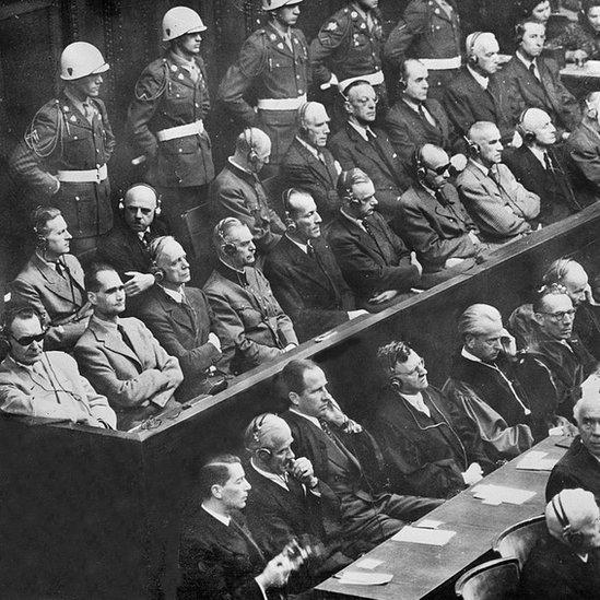 Imagen de los juicios de Nuremberg.