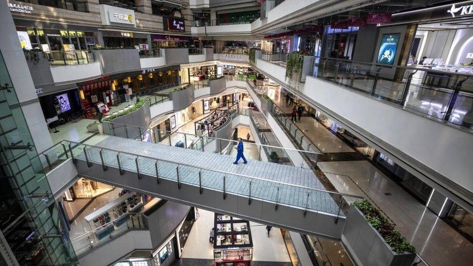 centro comercial en Pekín.