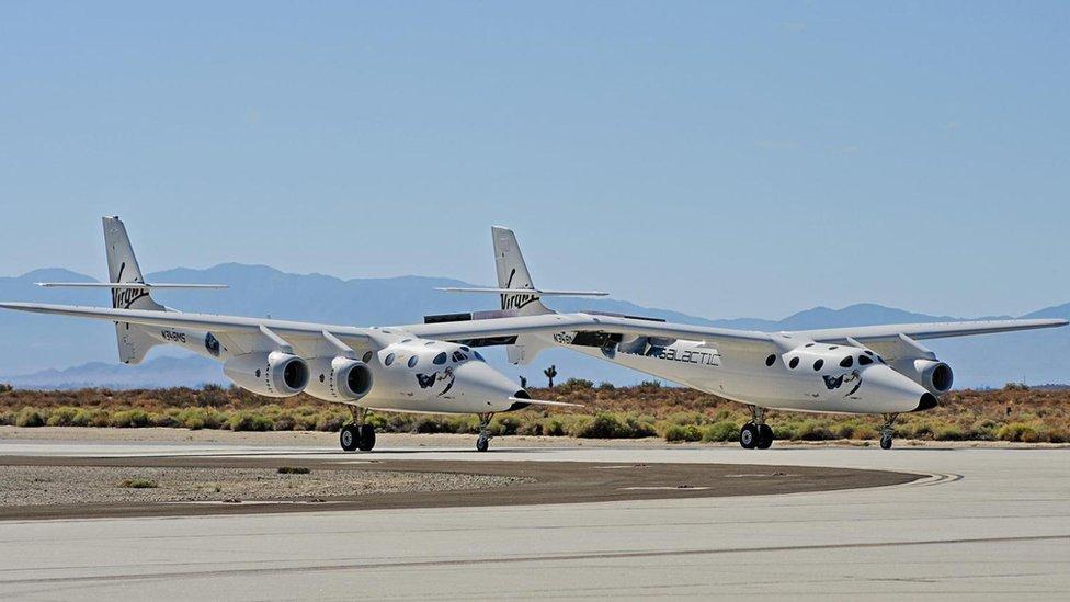 Virgin Galactic aircraft.