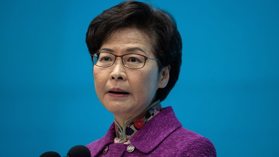Hong Kong Chief Executive Carrie Lam speaks during a press conference in Hong Kong, China, on 25 November 2020.