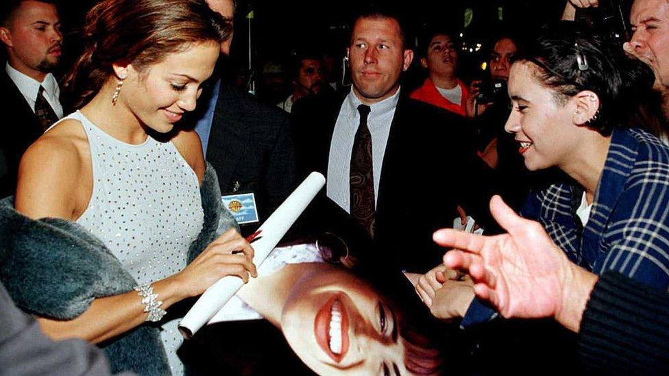 "Jennifer López en el estreno de ""Selena"" en Hollywood"