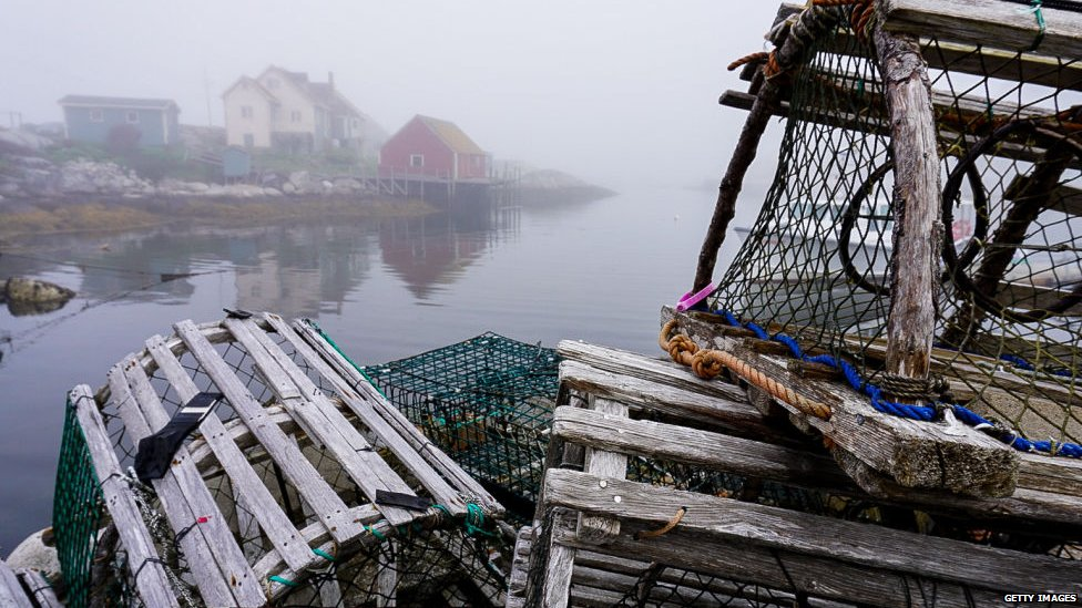 Lobster traps in Nova Scotia