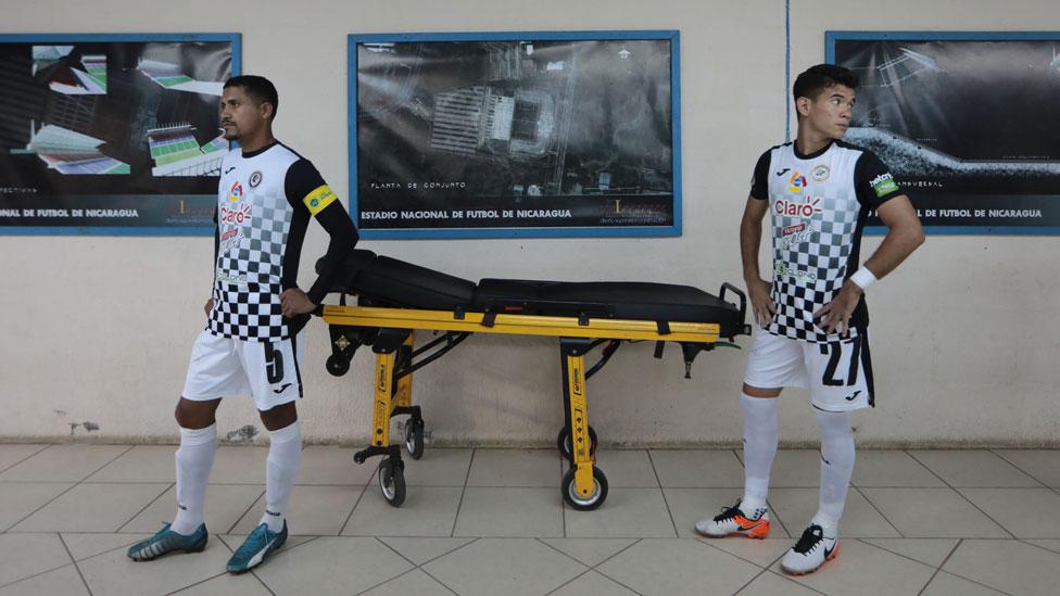 Jugadores del Diriangén FC antes de un partido