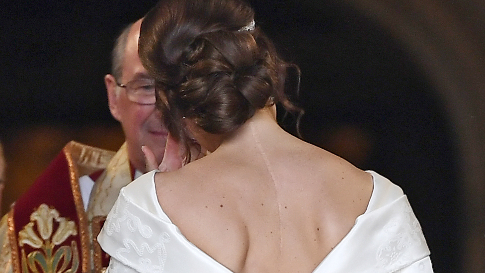 Princess Eugenie during her wedding ceremony