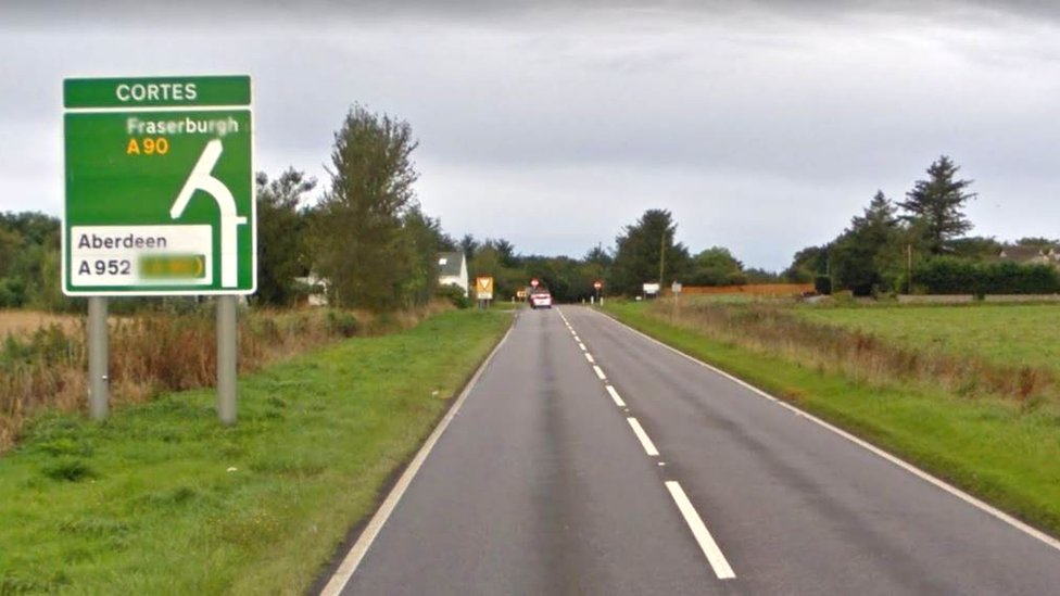 Woman, 77, hurt in two-car crash in Aberdeenshire