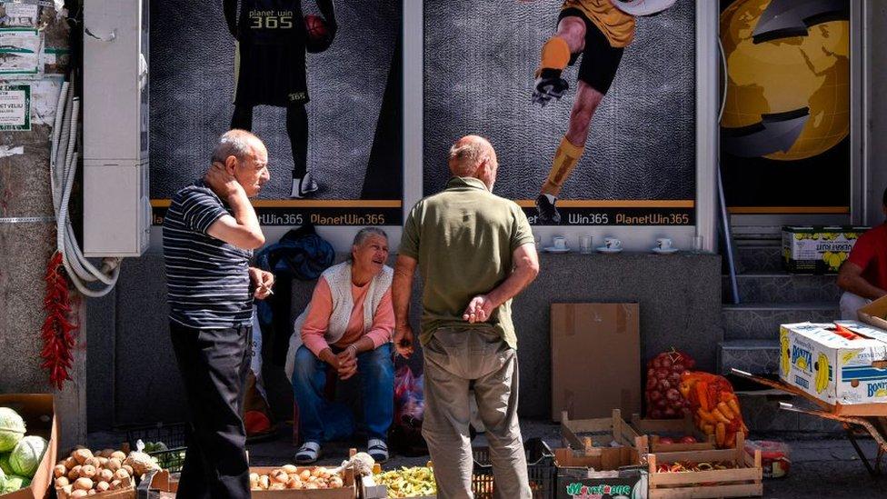 Prodaja namirnica na Kosovu