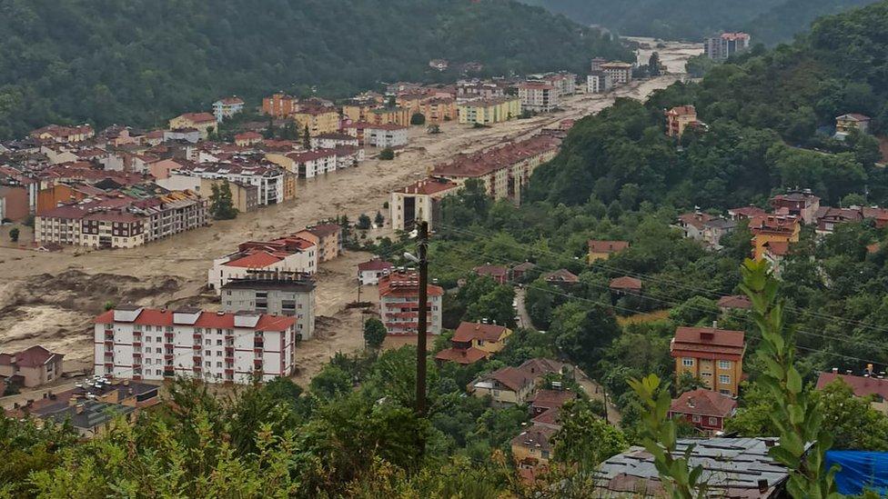 11 Ağustos 2021'de Kastamonu'daki sel felaketi.