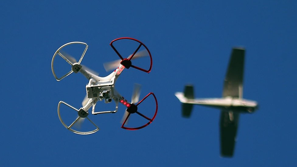 Drone and aircraft generic image