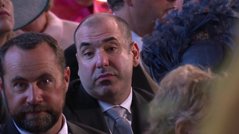 Royal wedding 2018: The reason for Rick Hoffman's 'weird' face