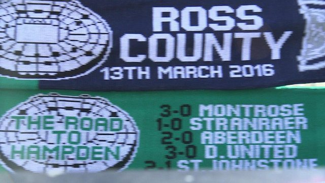 Hibs and Ross County fans on final