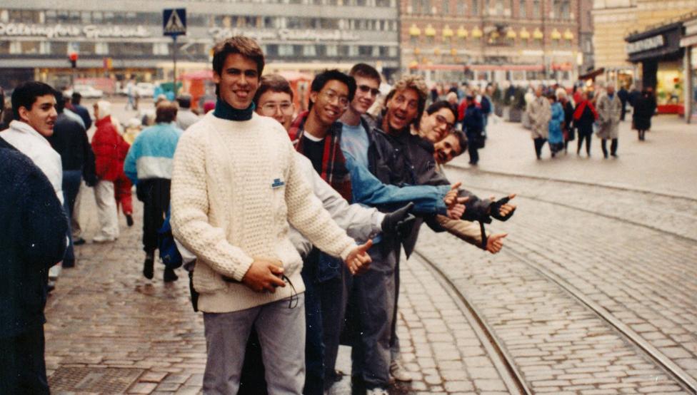 Adolescentes estadounidenses en la URSS.