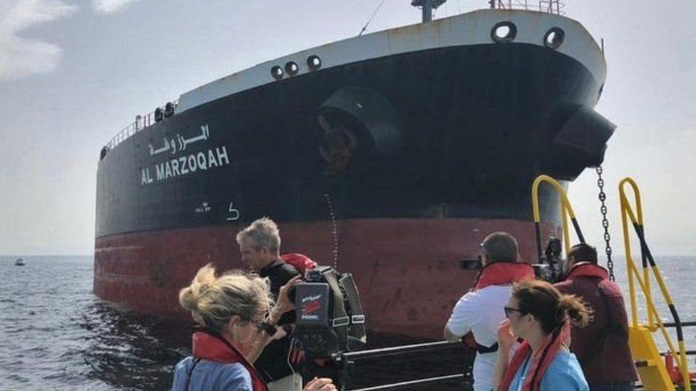 إحدى السفن المتضررة من هجوم في 12 مايو/أيار
