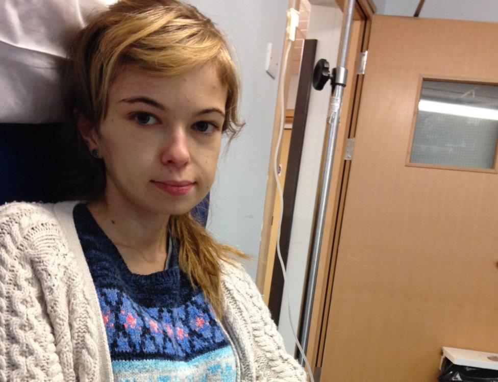 Lizzie shown during her illness