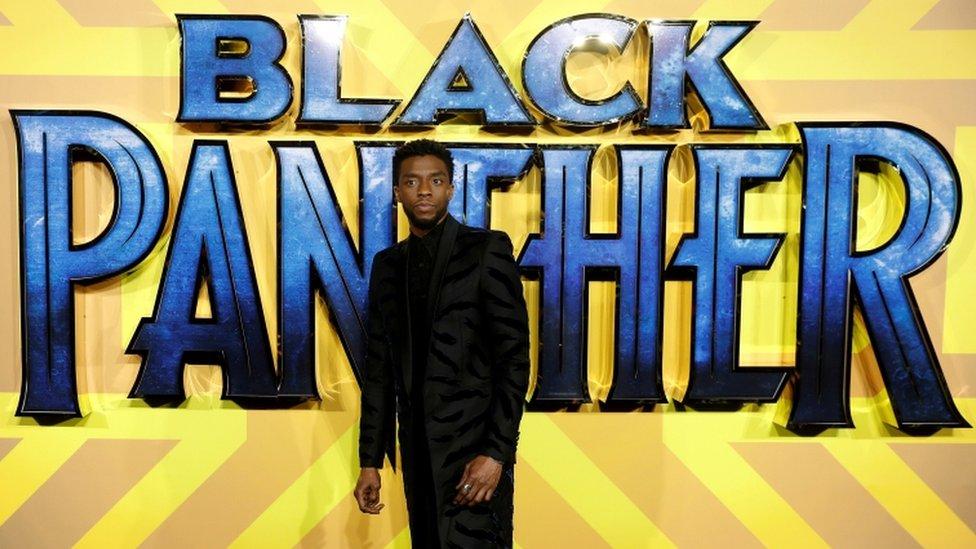 Chadwick Boseman at the premiere of Black Panther.