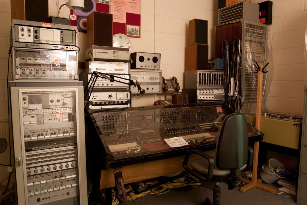 BBC broadcasting equipment at Kelvedon Hatch
