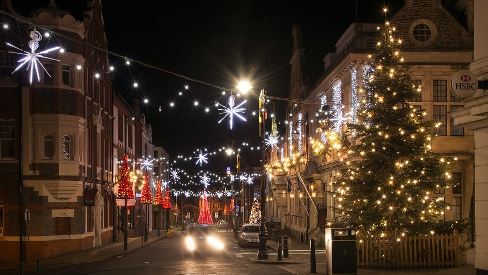 Douglas Christmas lights switch on 'very different' for 2020   BBC