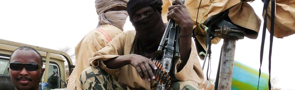 Militants in Mali pictured in 2012