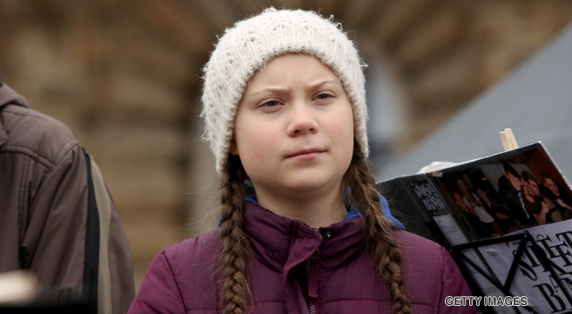Swedish 16-year-old campaigner Greta Thunberg
