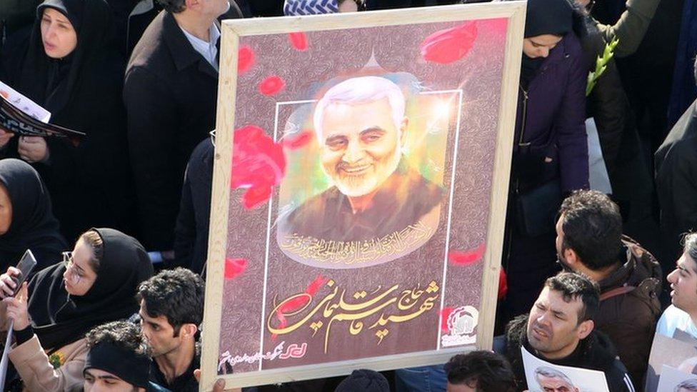 Funeral por Qasem Soleimani en Teherán el 6 de enero