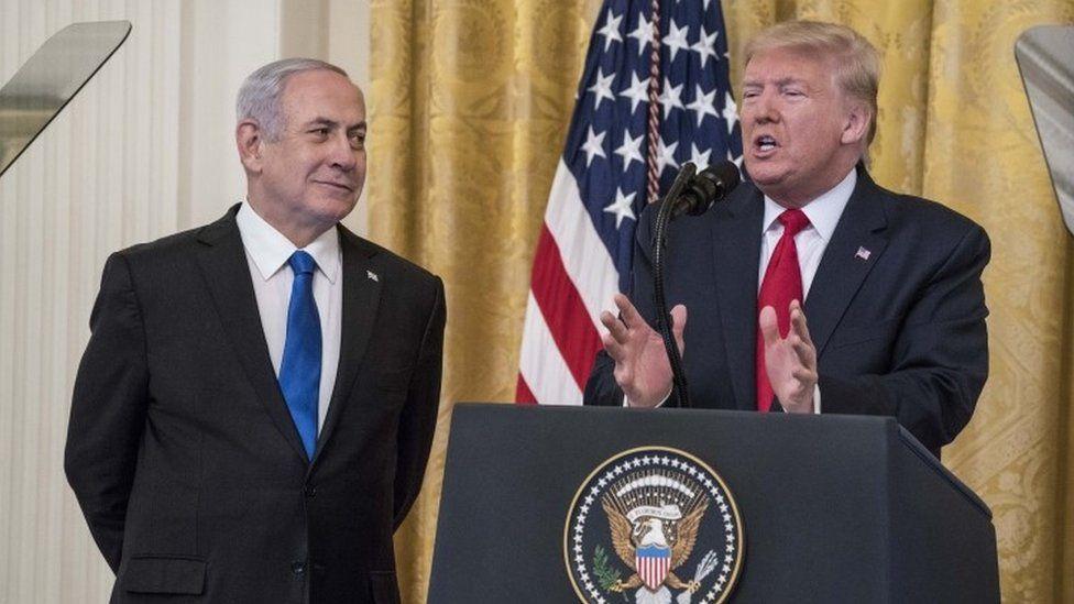 Donald Trump y Benjamin Netanyahu.